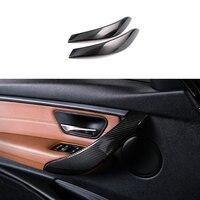 2x 100% Carbon Fiber Innen Türgriff Abdeckung Trim Für BMW 4 Serie F32 F33 2014-2017 auto zubehör
