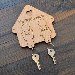 Крючки для ключей Mr и Mrs, свадебный подарок, подарок для пары, брелоки для него и ее ключи
