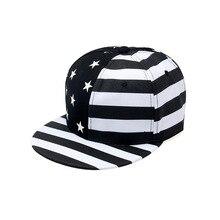 Новые трендовые хлопковые кепки для мужчин и женщин, модные хип-хоп кепки в полоску со звездами, регулируемые модные бейсболки для взрослых, для мальчиков и девочек, детей