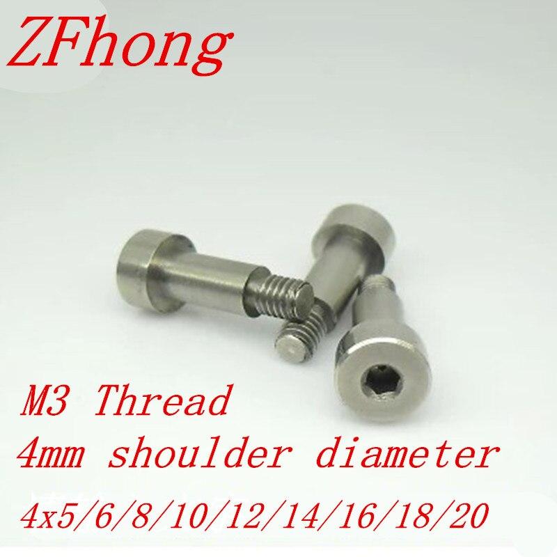 5pcs m3 thread diameter 4mm stainless steel hex socket shoulder screw length 5/6/8/10/12/14/16/18/20 5 pieces 1 4 pt thread diameter brass internal hex head pipe plug