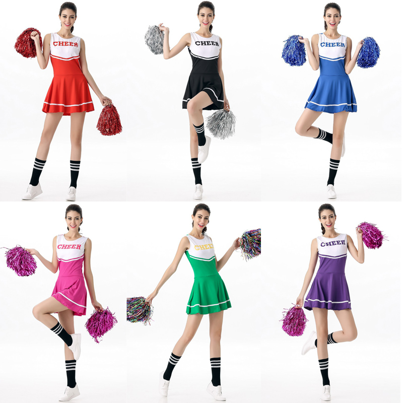 5abac4cf384 US $12.91 32% OFF|Girl Performance Sport Game Cheerleader Outfit High  School Ladies Musical Uniform Fancy Dress-in Sexy Costumes from Novelty &  ...
