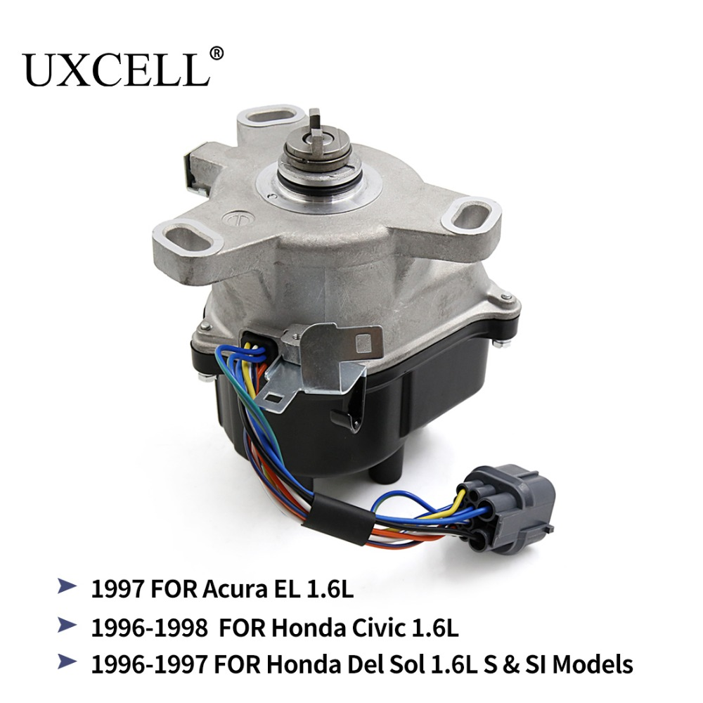 UXCELL TD-80U TD-98U Ignition Distributor For Honda Civic 1996 TO 1998, Del Sol 96 - 97 S & SI 1.6L For Acura EL 1997 TO 1998 free shipping idle air control valve iac iacv 16022p2ea51 for honda civic civic del sol acura el 1996 1997 1998 1999 2000