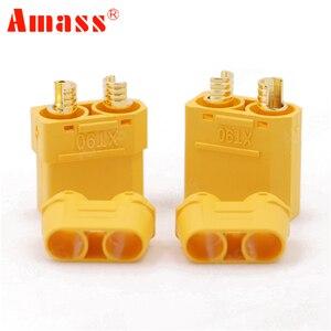 Image 2 - 100 teile/los Amass XT90 XT90H Batterie Stecker Set 4,5mm Männlich Weiblich Vergoldete Bananen Stecker (50 paar)