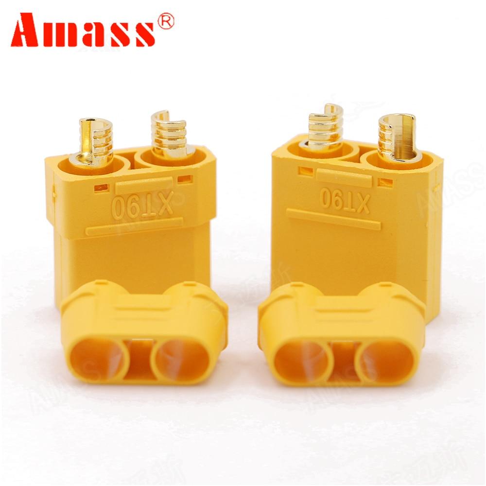 100 unids/lote Amass XT90 XT90H conector de la batería 4,5mm hombre mujer chapado en oro Banana macho de (50 pares)-in Partes y accesorios from Juguetes y pasatiempos    2