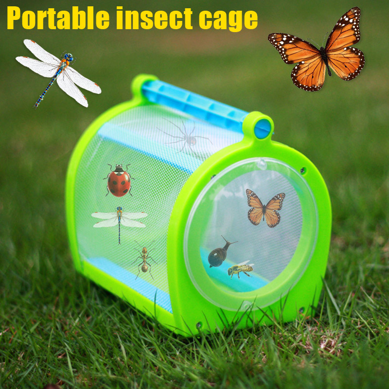 2018 New Insect Cage With Carrying Handle Portable Bug House For Butterfly Dragonfly Cricket Catching Garden Supplies2018 New Insect Cage With Carrying Handle Portable Bug House For Butterfly Dragonfly Cricket Catching Garden Supplies