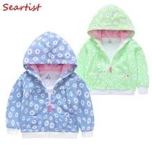 Seartist 2019 New Girls Coat Spring Zipper Sweatshirt Hoodie Outfits Baby Boys Hooded Jacket Bebes Newborn Girl Clothes C21
