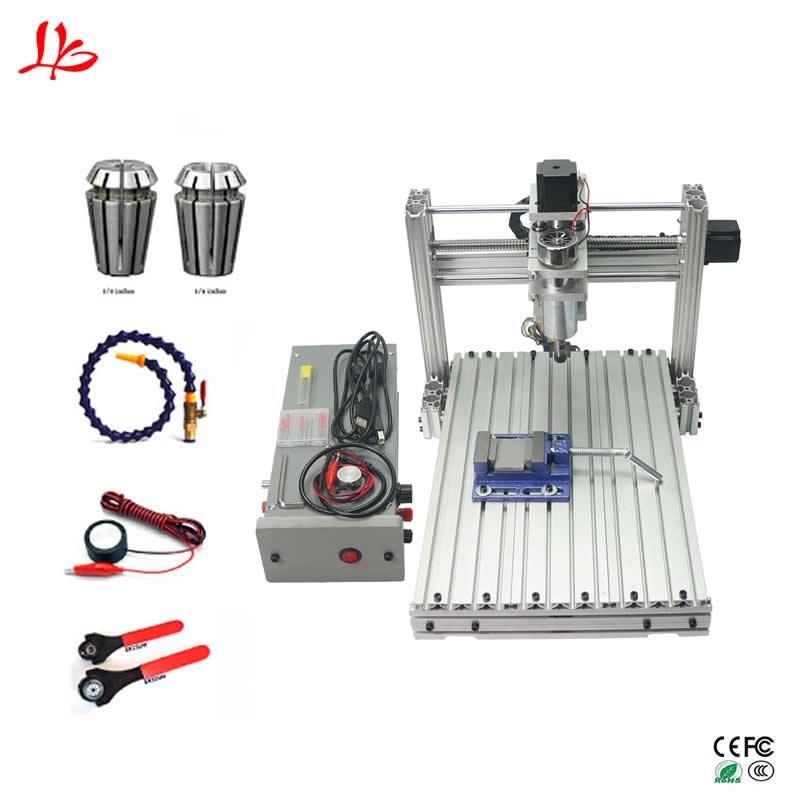 цена на Mini cnc engraving milling machine 3040 3axis ball screw wood carving router USB port