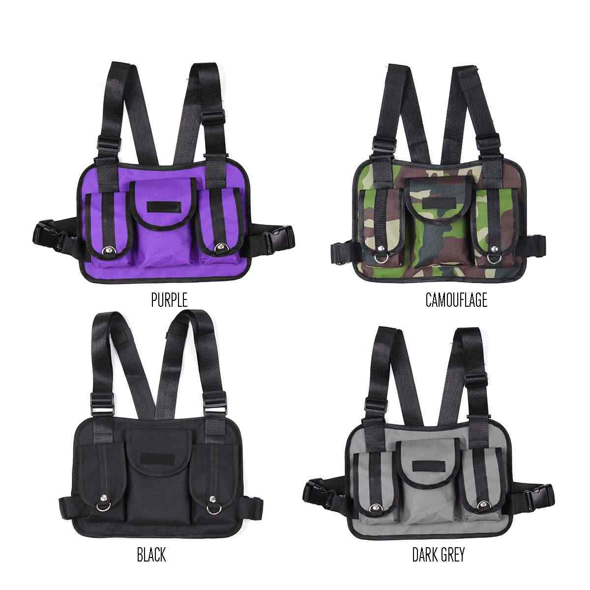 4 色のホットファッション胸リグヒップホップストリート戦術胸バッグクロスショルダーバッグ