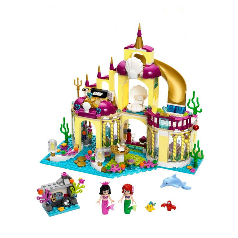 JG306 Compatible with Friends 41063 Princess Mermaid Beauty Ariel Undersea Palace Building Bricks Blocks Sets Toys for girl Gift gonlei 10407 friends pop star tour bus building blocks sets bricks toys girl game house gift compatible with