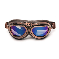 Triclicks Helmet Steampunk Copper Glasses Motorcycle Flying Goggles Vintage Pilot Biker Eyewear Goggles Protective Gear Glasses 1