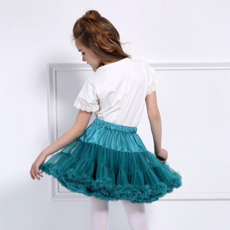 MezyTicky 2 8years Baby girls tutu skirts Solid ballet skirt children fluffy ball gown ruched skirt kids Mini dance Pettiskirt in Skirts from Mother Kids