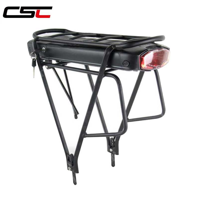Electric Bicycle 10/13/17.5Ah 36V 48V Rear Rack Battery for eBike Lithium Battery + Double Layer Luggage Rack