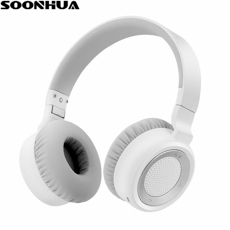SOONHUA CSR 4.0 Bluetooth Stereo Headphone Wireless HiFi Super Bass Headset Earphone 3.5mm Jack With Microphone for Phone Tablet rock y10 stereo headphone earphone microphone stereo bass wired headset for music computer game with mic