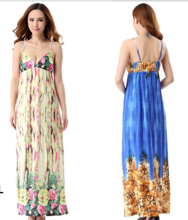 2018 woman spring flowers blooming folds long cocktail maxi summer 2018 woman spring flowers blooming folds long cocktail maxi summer beautiful floral print silk fabric sexy long beach dress in dresses from womens mightylinksfo