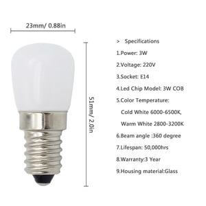 Image 2 - Светодиодная лампа E14 COB, стеклянная лампа 2835 SMD для холодильника, холодильника, морозильной камеры, швейной машины, домашнее освещение