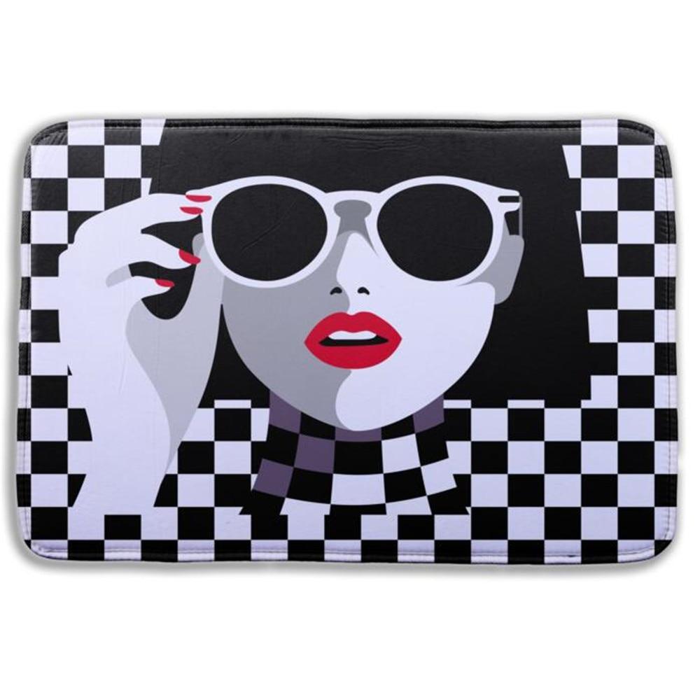 1 Pcs 3D Shower Pad Mat Rug Coral Velvet Memory Foam Bath Mat Sexy Girl Pattern Bath -9824