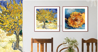 scenery paintings landscape canvas paintings Mulberry Tree, c.1889 and two Cut Sunflowers, c.1887 by Vincent van Gogh