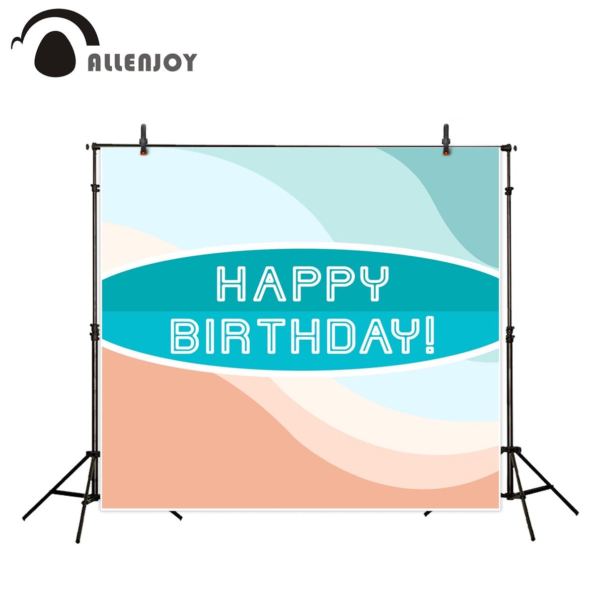 Allenjoy Vinyl photography Fresh elegant sky blue celebration birthday Photographic background for study fotografia background дрель шуруповерт bosch psb 18 li 2 0 603 982 321