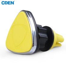 CDEN Mini 360 Graus Magnético Suporte Do Telefone Do Carro de Ventilação Do Carro de Montagem Suporte para Carro Azul Cinza Cor Amarela Disponível