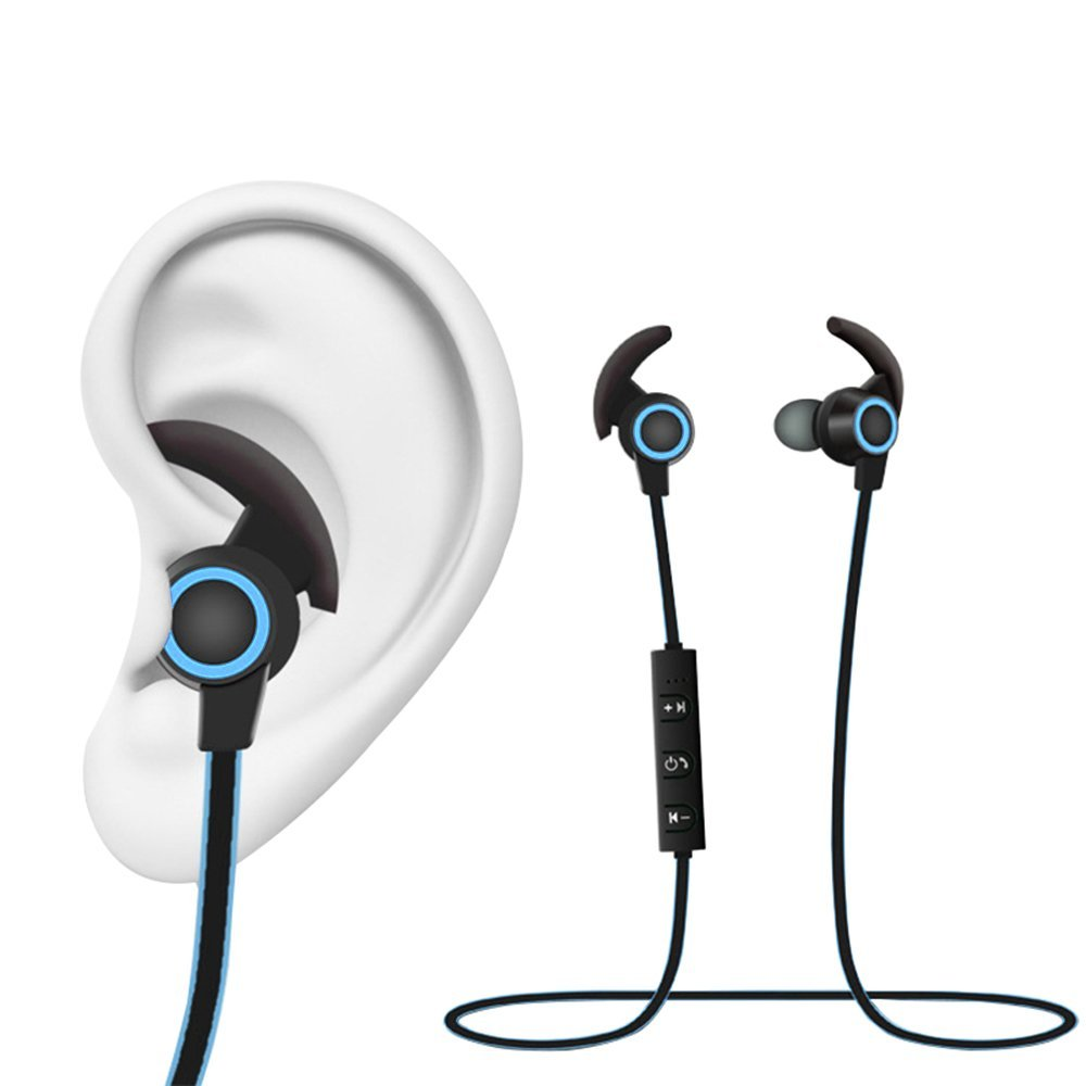 buy sport bluetooth ear hook earphones wireless headphones with mic colorful. Black Bedroom Furniture Sets. Home Design Ideas