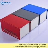 Ferro caixa de projeto eletrônico diy caixa de instrumentos caixa de alto falante personalizado ferro desktop gabinete caixa de junção 180*120*100mm|Caixas de junção de fios| |  -
