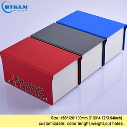 Iron electronic project box diy instrument case custom speaker box iron desktop enclosure junction box 180*120*100mm