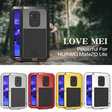 Aluminum Metal Cover For Huawei Mate 20 Lite Waterproof Full Body Heavy Duty Armor Case For Huawei Mate 20 Lite Shockproof Case huawei mate 20 lite case cover armor rubber heavy duty phone case huawei mate 20 lite back cover huawei mate 20 lite fundas 6 3