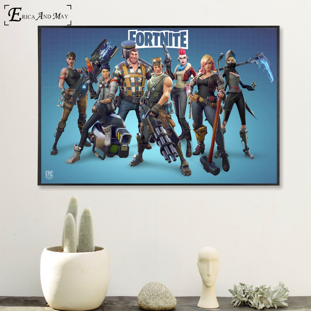 Fortnite 3D Battle Royale Game Poster And Print Canvas Art Painting Wall Pictures For Living Room Decoration Home Decor No Frame