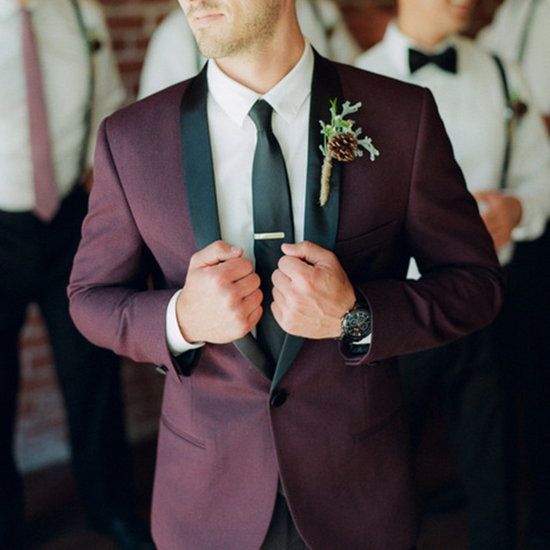 Costume hommemariage noir revers simple bouton hommes costume frais conception personnalisée nouveau Lang fit mariage vêtements costume d'affaires