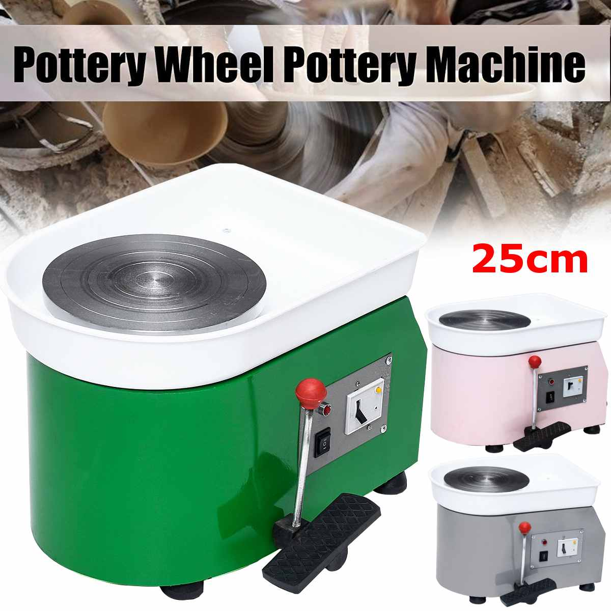 220V 250W 250mm Turning Electric Pottery Wheel Ceramic Machine Ceramic Clay Potter Kit For Ceramic Work Ceramics