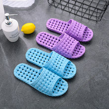New Slippers Women Summer Indoor Thick-soled Lovers Male Home Slippers Bath Slip-proof Bathroom Soft-soled Home Sandals(China)