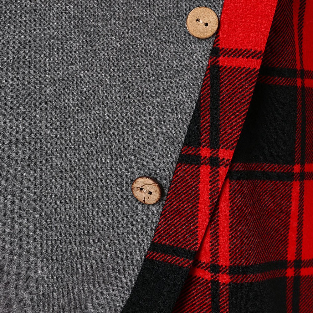 Mens Hooded Sweatshirt Long Sleeve Hoodie Fall Tartan S Warm Autumn Plaid Pullovers Sweaters Big Pockets
