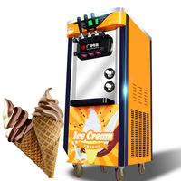 상업 자동 아이스크림 기계 2100 w 3 색 수직 아이스크림 기계 지능형 감미료 아이스크림 기계 1pc