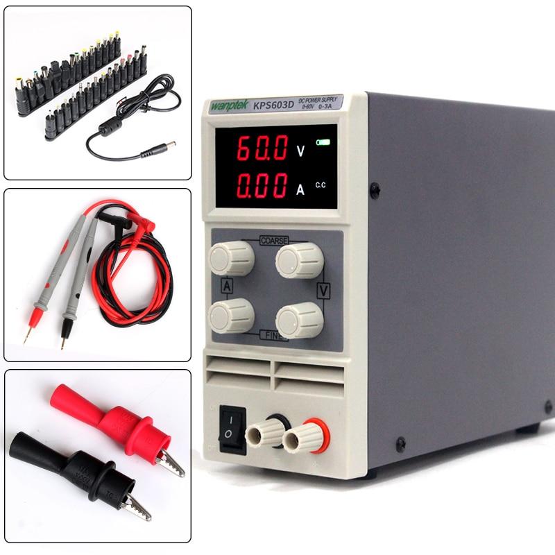 with Multimeter test probe,60V 3A 0.1V 0.01A for electrical maintenance of variable adjustable digital DC power supply cps 6011 60v 11a digital adjustable dc power supply laboratory power supply cps6011
