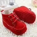 Más nuevos para la muchacha zapatos del pesebre de la princesa Lace UP suaves zapatillas de deporte del niño niñas botas cortas botas primeros caminante