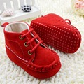 Newest Infant Baby Girl Crib Shoes Princess Lace UP Soft Sole Sneakers Toddler Girls Short Boots First Walkers
