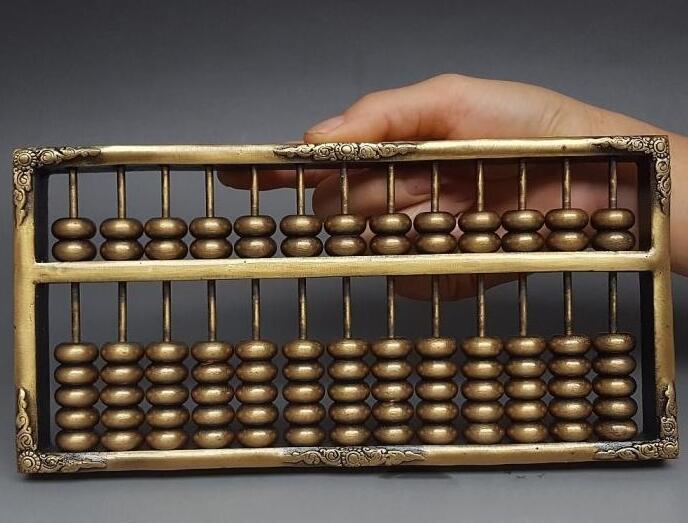 Abacus en cuivre Antique abacus véritable grand 13 axes décoration Feng Shui solide décoratif artisanat cadeau collection antique