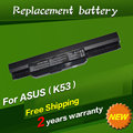 Batería del ordenador portátil p53sj jigu x43b k54c x54hr para asus k53by x54ly k53f p53jc seriesp43sl pro5p k53b x54xb815hr k84hr x43 x84l