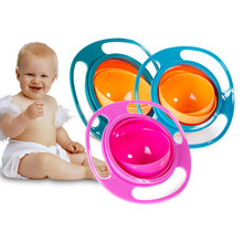 Baby Gyro Bowl Practical Design Tumbler Children Rotary Balance Umbrella 360 Rotate Spill-Proof Solid Feeding Dishes MDP