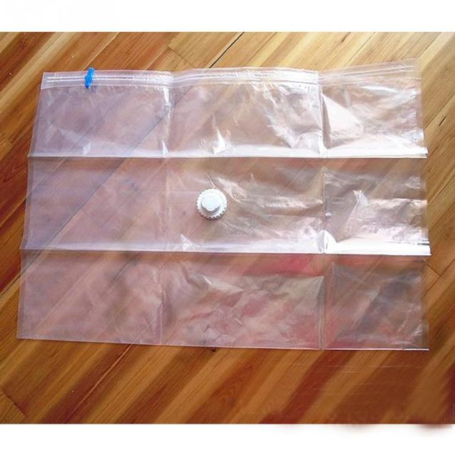 Free Shipping 1 pc 60*50/ 80*60/ 100*70/ 110*80cm Vacuum storage bag/Vacuum compressed space bag
