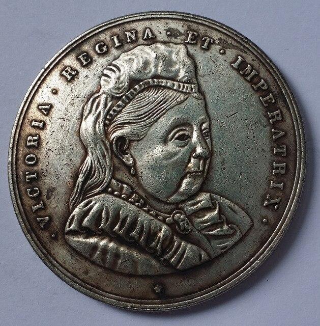 England 1897 Diamond Jubilee Medaille Edelstein Alten Münze In