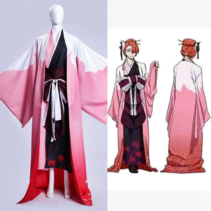 Anime BUNGO STRAY DOGS Figure Ozaki Koyo Higannbana Kimono Cosplay Costume Custom Made Any Size