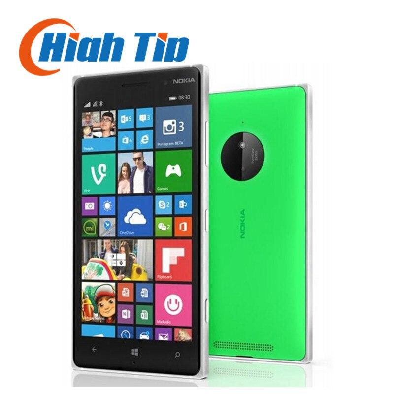 100% d'origine Nokia Lumia 830 téléphone portable 1g RAM 16g ROM Reconditionné Quad core 10MP Caméra 5 écran de GPS WIFI de téléphone de marque