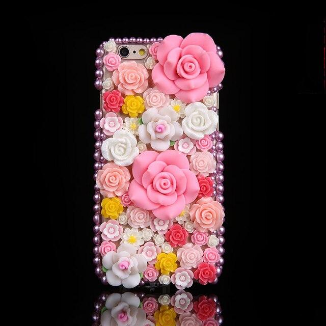 Sang Trọng DIY Kim Cương 3D Hồng Hoa Hồng Hoa Bling Trường Hợp Cho iPhone 12 Mini 11 Pro Max XS Max XR X 6S 6 8 7 Plus 5 5S SE 2020 Fundas