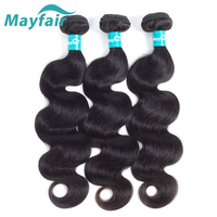 Mayfair 3 Lots Brazilian Body Wave Bundles Hair Human Hair Weave Bundles Remy Hair Extension 16 18 20 bundles