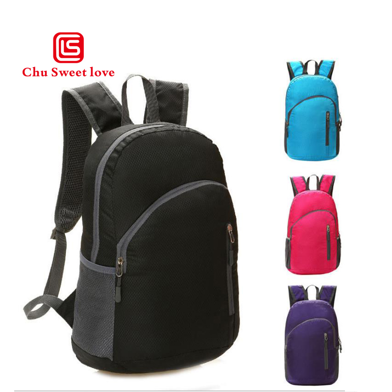 Fashion Backpack Women Men Folding storage Back Pack Leisure Ladies Knapsack Laptop Travel Bags Female