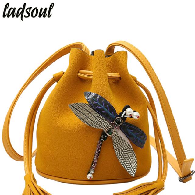 Women Bucket Ladies Clutches Tote Dragonfly Cross-body Messenger Bag