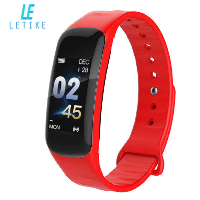 Original C1 plus Fitness Tracker Farbe Bildschirm Smart armband Blutdruck Herz-Monitor-sport Uhr für Kinder Frauen Männer