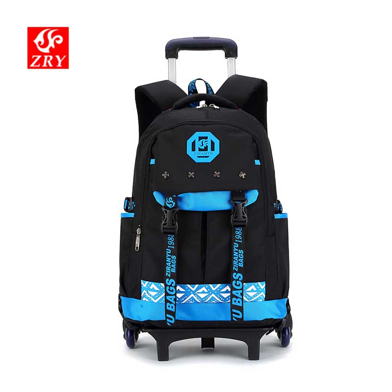 Large Capacity Kids Rolling Backpacks for boys Student trolley backpack Luggage Six Or Two Wheels Unisex Trolley School Bags men backpack student school bag for teenager boys large capacity trip backpacks laptop backpack for 15 inches mochila masculina