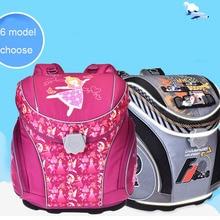 Купить с кэшбэком 2017 new School Bags school Backpacks Children Orthopedic Backpack boys Book bag for boys and Girls mochila infantil